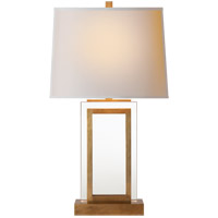 Visual Comfort CHA8983AB-NP E. F. Chapman Crystal Panel 30 inch 150 watt Antique-Burnished Brass Decorative Table Lamp Portable Light