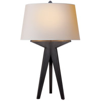 E.F. Chapman Russell 29 inch 150 watt Aged Iron Table Lamp Portable Light in Natural Paper, E.F. Chapman, Modern, Tripod, Natural Paper Shade