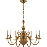 Visual Comfort E.F. Chapman 18th Century 8 Light Chandelier in Antique-Burnished Brass CHC1112AB