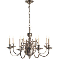 Visual Comfort E.F. Chapman 18th Century 8 Light Chandelier in Antique Nickel CHC1112AN