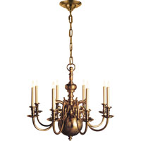 Visual Comfort E.F. Chapman 18th Century 8 Light Chandelier in Antique-Burnished Brass CHC1114AB