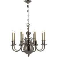 Visual Comfort E.F. Chapman 18th Century 8 Light Chandelier in Antique Nickel CHC1114AN