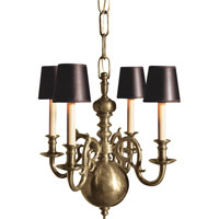 Visual Comfort E.F. Chapman 18th Century 4 Light Chandelier in Antique Nickel CHC1115AN