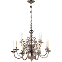 Visual Comfort E.F. Chapman 18th Century 12 Light Chandelier in Antique Nickel CHC1118AN