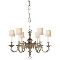Visual Comfort E.F. Chapman Georgian 6 Light Chandelier in Antique Nickel (Shades Sold Separately) CHC1131AN