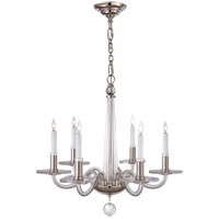 E.F. Chapman Robinson 6 Light 18 inch Crystal with Polished Nickel Chandelier Ceiling Light