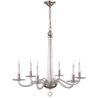 E. F. Chapman Robinson 6 Light 32 inch Crystal with Polished Nickel Chandelier Ceiling Light