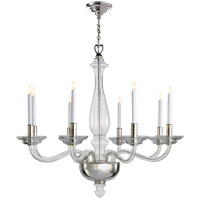 Visual Comfort E.F. Chapman George 8 Light Chandelier in Crystal with Polished Nickel CHC1143CG/PN