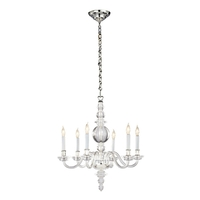 Visual Comfort George II Chandelier in Polished Nickel CHC1155CG/PN