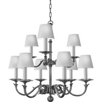 Visual Comfort Chart House Medium Two Tier Sussex Chandelier in Bronze CHC1172BZ