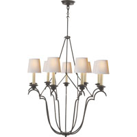 Visual Comfort E.F. Chapman Belvedere 9 Light Chandelier in Aged Iron with Wax CHC1403AI-NP