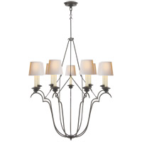 Visual Comfort CHC1403AI-NP E. F. Chapman Belvedere 9 Light 33 inch Aged Iron Chandelier Ceiling Light photo thumbnail