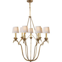 Visual Comfort E.F. Chapman Belvedere 9 Light Chandelier in Gilded Iron with Wax CHC1403GI-NP