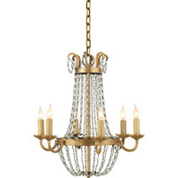 Visual Comfort E.F. Chapman Paris Flea Market 6 Light Chandelier in Gilded Iron CHC1407GI-SG