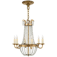 E. F. Chapman Paris Flea Market 6 Light 16 inch Gilded Iron Chandelier Ceiling Light