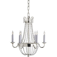 Visual Comfort E.F. Chapman Paris Flea Market 6 Light Chandelier in Polished Silver CHC1407PS-SG