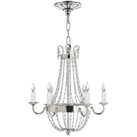 Visual Comfort CHC1407PS-SG E F Chapman Paris Flea Market 6 Light 16 inch Polished Silver Chandelier Ceiling Light
