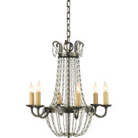 E. F. Chapman Paris Flea Market 6 Light 16 inch Sheffield Silver Chandelier Ceiling Light