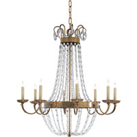 Visual Comfort CHC1408AB-SG E.F. Chapman Paris Flea Market 8 Light 32 inch Antique-Burnished Brass Chandelier Ceiling Light in Antique Burnished Brass