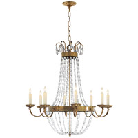 E F Chapman Paris Flea Market 8 Light 32 inch Antique-Burnished Brass Chandelier Ceiling Light