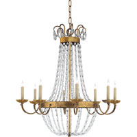 Visual Comfort E.F. Chapman Paris Flea Market 8 Light Chandelier in Gilded Iron with Wax CHC1408GI-SG