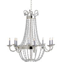 Visual Comfort E.F. Chapman Paris Flea Market 8 Light Chandelier in Polished Silver CHC1408PS-SG