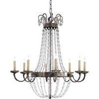 Visual Comfort E.F. Chapman Paris Flea Market 8 Light Chandelier in Sheffield Silver CHC1408SHS-SG