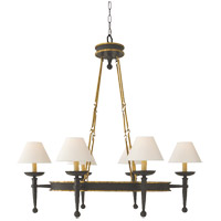 Visual Comfort E.F. Chapman Oval 6 Light Chandelier in Weathered Iron CHC1414WI