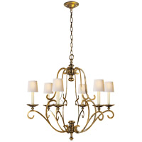 Visual Comfort E.F. Chapman Piedmont 6 Light Chandelier in Antique-Burnished Brass CHC1420AB