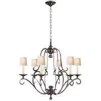 Visual Comfort E.F. Chapman Piedmont 6 Light Chandelier in Antique Nickel CHC1420AN