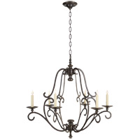 Chart House 6 Light 32 inch Bronze Chandelier Ceiling Light in (None)