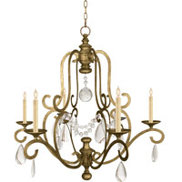 Visual Comfort E.F. Chapman Piedmont 6 Light Chandelier in Gilded Iron with Wax CHC1420GI-SG