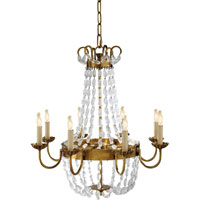 Visual Comfort E.F. Chapman Paris Flea Market 8 Light Chandelier in Antique-Burnished Brass CHC1426AB-SG