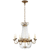 Visual Comfort CHC1426AB-SG E F Chapman Paris Flea Market 8 Light 24 inch Antique-Burnished Brass Chandelier Ceiling Light