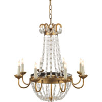 Visual Comfort E.F. Chapman Paris Flea Market 8 Light Chandelier in Gilded Iron with Wax CHC1426GI-SG