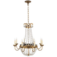 Visual Comfort CHC1426GI-SG E F Chapman Paris Flea Market 8 Light 24 inch Gilded Iron Chandelier Ceiling Light