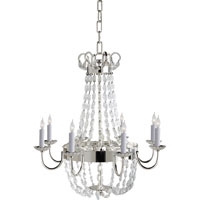 Visual Comfort E.F. Chapman Paris Flea Market 8 Light Chandelier in Polished Silver CHC1426PS-SG
