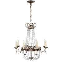 Visual Comfort CHC1426SHS-SG E F Chapman Paris Flea Market 8 Light 24 inch Sheffield Silver Chandelier Ceiling Light