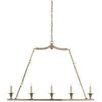 Visual Comfort E.F. Chapman Flat Line 5 Light Linear Pendant in Antique Nickel CHC1441AN