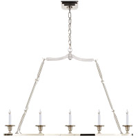 E.F. Chapman Flat Line 5 Light 48 inch Polished Nickel Linear Pendant Ceiling Light