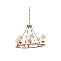 Visual Comfort E.F. Chapman Oval 6 Light Chandelier in Antique-Burnished Brass CHC1444AB