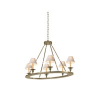 Visual Comfort E.F. Chapman Oval 6 Light Chandelier in Antique Nickel CHC1444AN