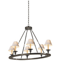 Visual Comfort E.F. Chapman Oval 6 Light Chandelier in Bronze with Wax CHC1444BZ