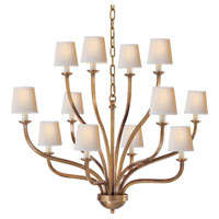 Visual Comfort E.F. Chapman Normandy 12 Light Chandelier in Antique-Burnished Brass CHC1446AB