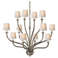 Visual Comfort E.F. Chapman Normandy 12 Light Chandelier in Antique Nickel CHC1446AN