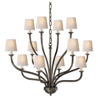 Visual Comfort E.F. Chapman Normandy 12 Light Chandelier in Bronze with Wax CHC1446BZ