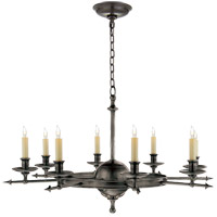 Visual Comfort E.F. Chapman Leaf and Arrow 8 Light Chandelier in Bronze with Wax CHC1447BZ