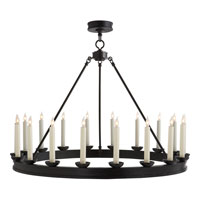 Visual Comfort E.F. Chapman Dorset 18 Light Chandelier in Hand Painted Blackened Rust CHC1459BR