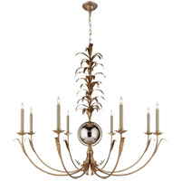 Visual Comfort E.F. Chapman Gramercy 8 Light Chandelier in Gilded Iron with Natural Paper Shade CHC1474GI-NP