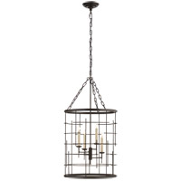 E.F. Chapman Copene 4 Light 18 inch Aged Iron Foyer Lantern Ceiling Light, E.F. Chapman, Medium, Round